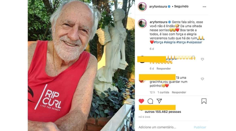 Post de Ary Fontoura no Instagram. Crédito: Reprodução do Instagram com finalidade de ilustração de conteúdo jornalístico.