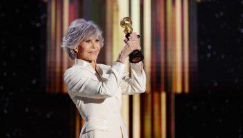 Jane Fonda no Globo de Ouro. Foto: Rich Polk/Getty Images